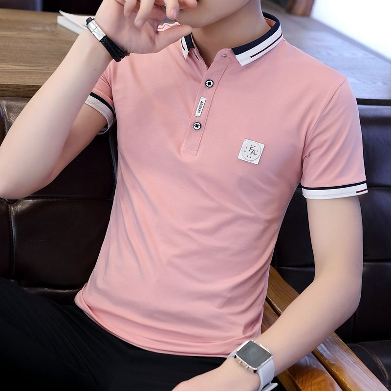 Summer Trend Men's Shirt Collar Polo 2019 New Men's Polo Shirt With Short Sleeves