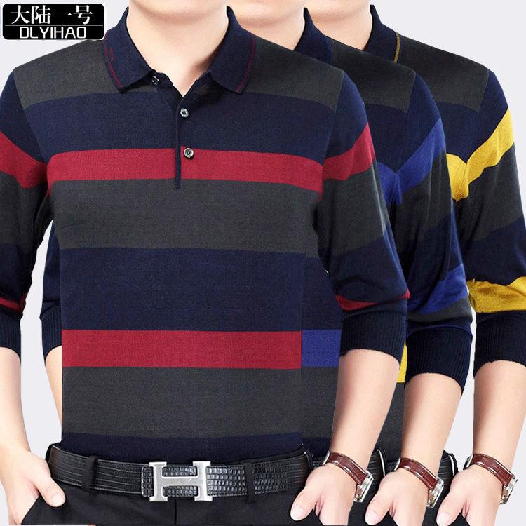 Continental 1 49% Cotton Men's Long Sleeve Polo Shirt Autumn Large