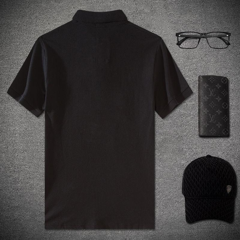Summer New Chinese Fashion Brand Embroidery Crane Lapel Short Sleeve T-shirt Men Polo Shirt Slim Half Sleeve Men's Society