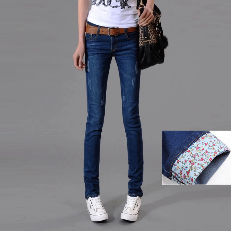 Women's Large Jeans 160 Jin Fat Mm THIN 2020 Spring New Small Leggings Korean Versatile Elastic Pants
