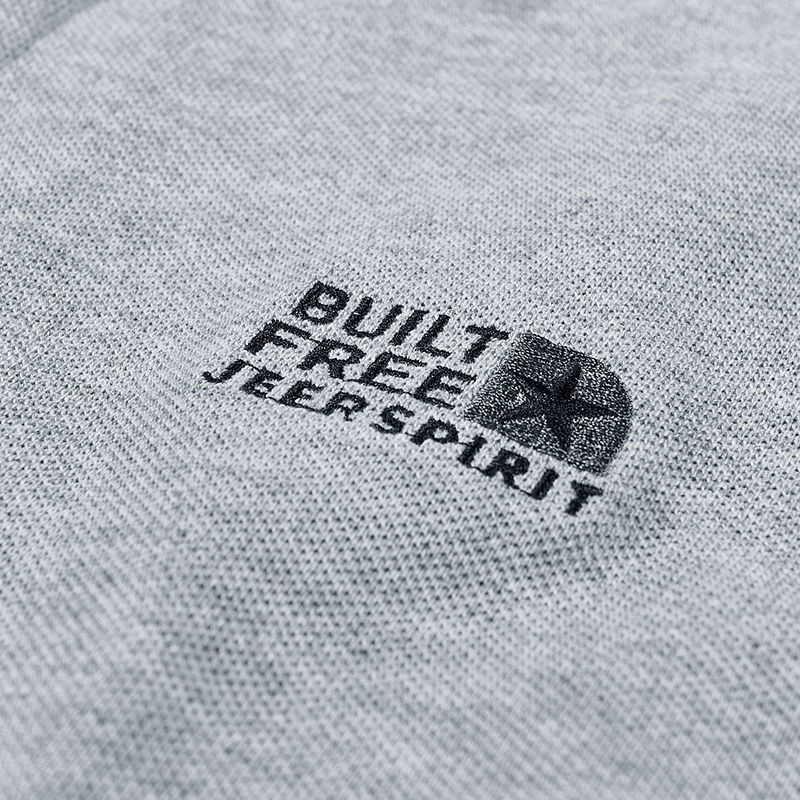 [Jeep] Jeep New Polo Men's Cotton Lapel Solid T-shirt Loose Youth Trend T-shirt