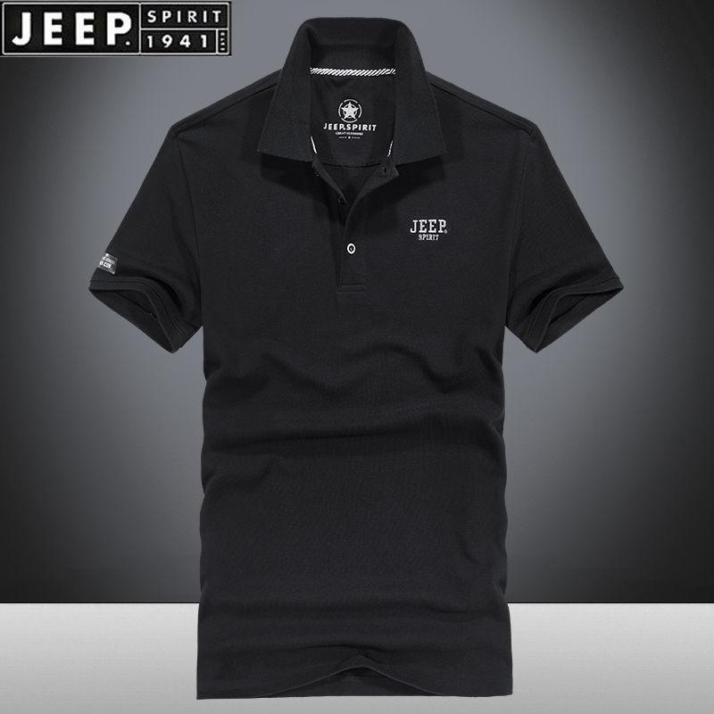 [Jeep] Jeep Summer Short Sleeve T-Shirt Summer Cotton Loose Large Base Shirt Thin Casual Polo
