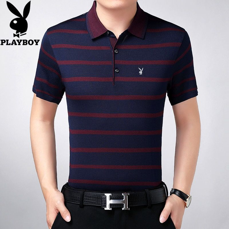 New Polo Shirt Summer Middle-aged And Old Men's Short Sleeve T-shirt Polo Loose Bottomed Shirt Dad's Real Pocket